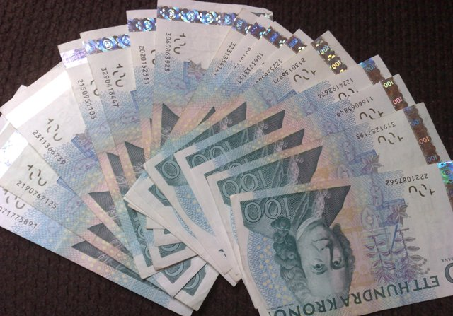 Corona sueca: billetes de 100 coronas